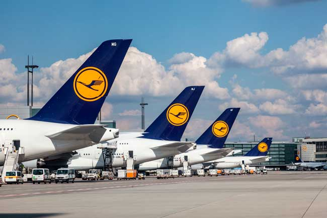 Frankfurt Airport serves as the main hub for Lufthansa and Condor AeroLogic.